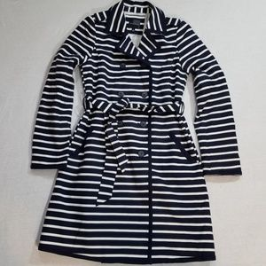 Nwot The Limited trench coat striped preppy S